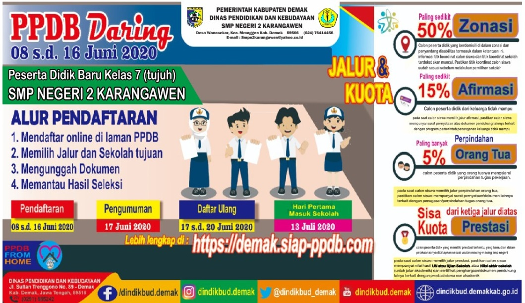 PPDB (Penerimaan Peserta didik Baru) Online serentak Se- Kabupaten Demak